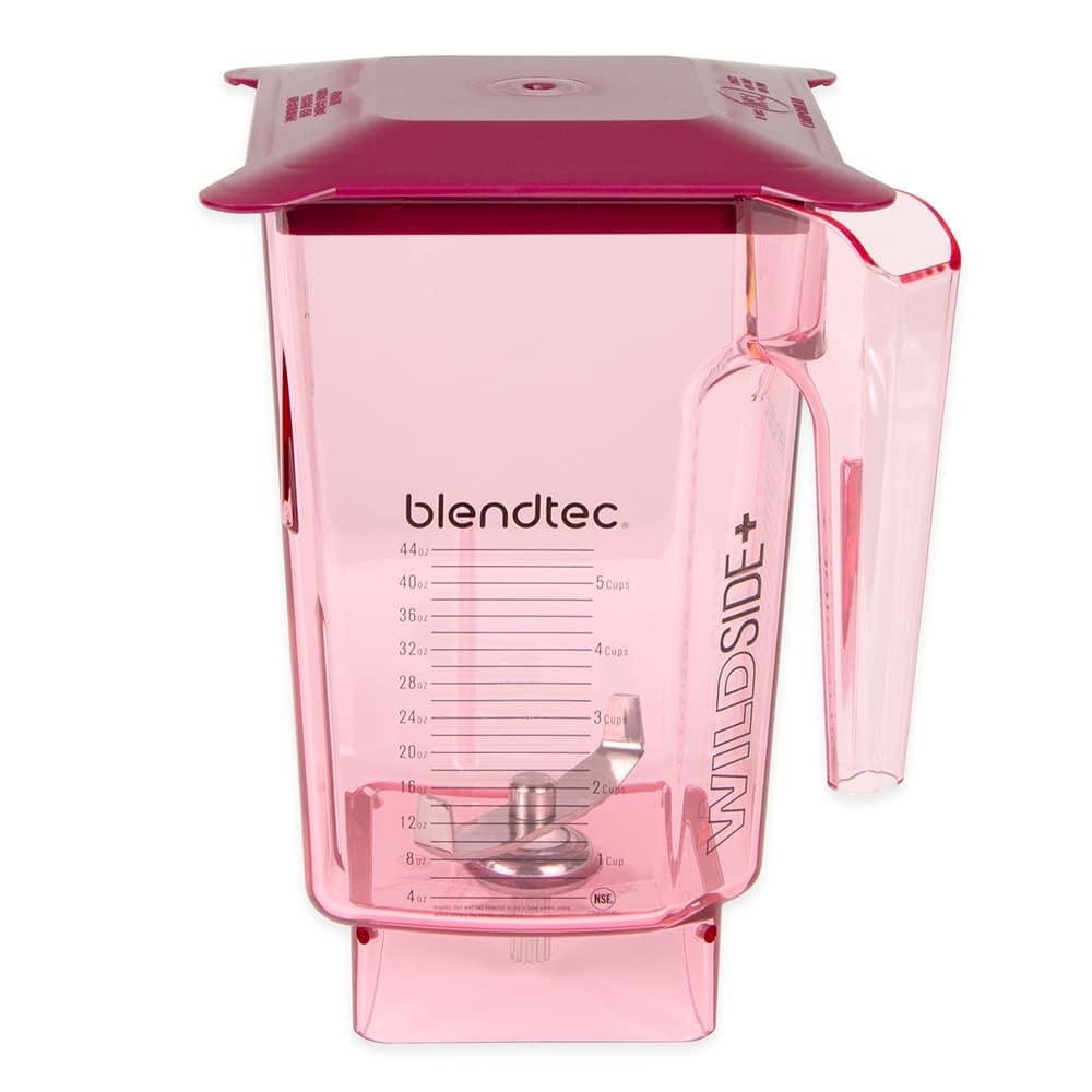 Blendtec WILDSIDERED-H 3 qt WildSide Jar w/ Hard Lid & Wingtip Blade, Ounce & Cup Markings, Red