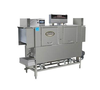 CMA EST-66H/R-L 2083 66-in Conveyor Dishwasher w/ 2-Tanks, 243-Racks in 1-hr, Right to Left, 208/3 V