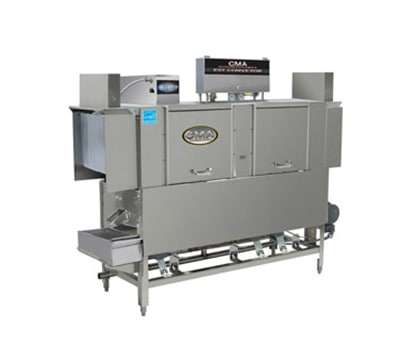 CMA EST-66L/R-L 2083 66-in Low Temp Conveyor Dishwasher, 243-Racks/hr, Right to Left, 208/3 V