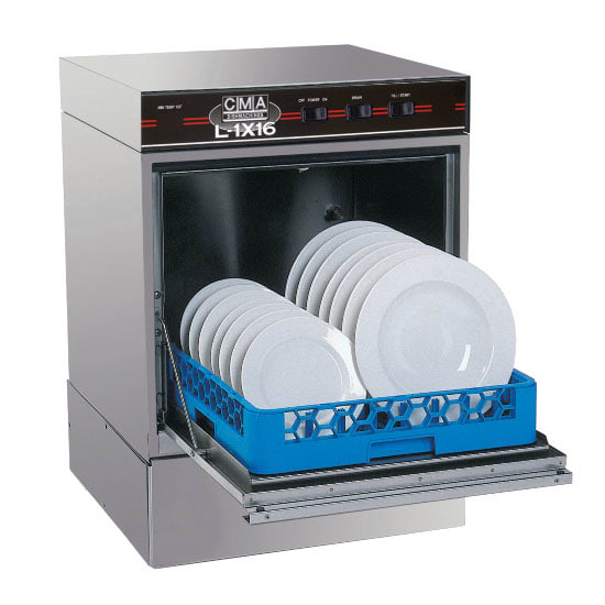 CMA L-1X16 Low Temp Rack Undercounter Dishwasher - (30) Racks/hr, 115v