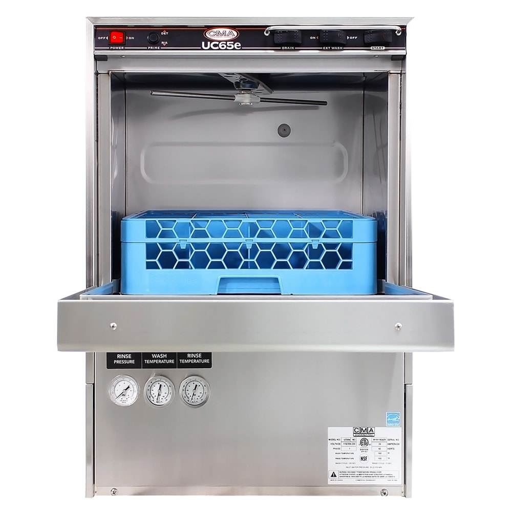 CMA UC65E High Temp Rack Undercounter Dishwasher - (30) Racks/hr, 208v/1ph