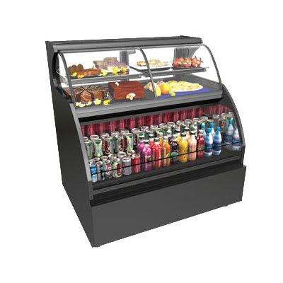"""Structural Concepts HOU3852R-E3 40"""" Dual-Service Bakery Case w/ Curved Glass - (3) Levels, 110-120v"""