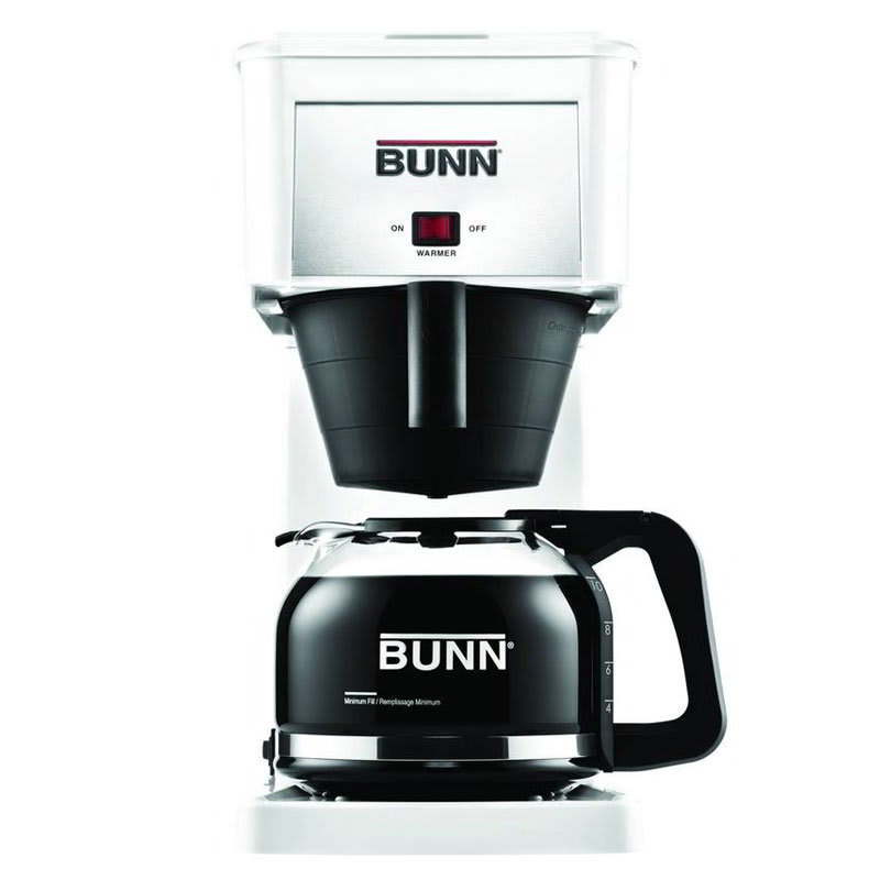 BUNN Home 38300.0061 GR Velocity Brew 10-cup Drip Coffee Maker, White