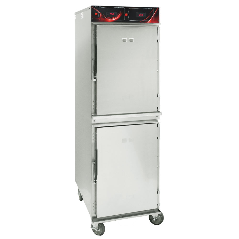 Cres Cor 1000-HH-SS-2DX Full Height Insulated Mobile Heated Cabinet w/ (16) Pan Capacity, 120v