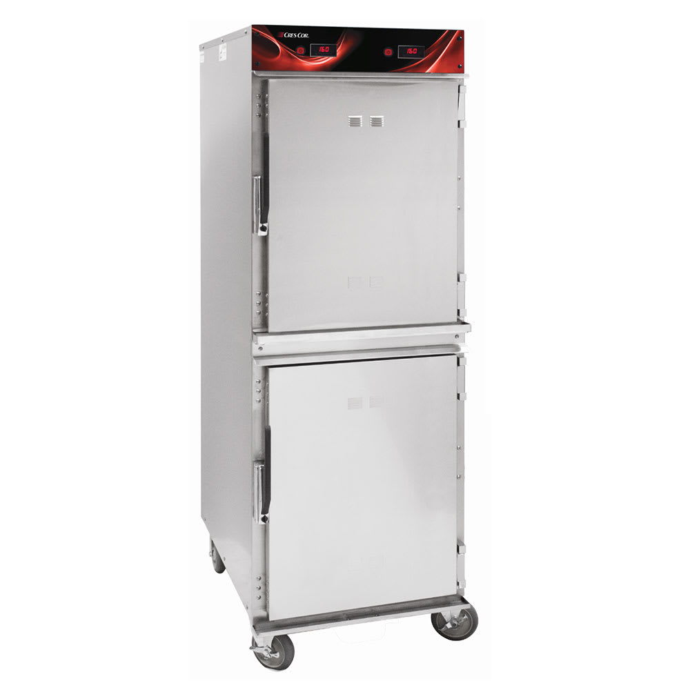 Cres Cor 1200-HH-SS-2DE Full Height Mobile Heated Cabinet w/ (16) Pan Capacity, 120v