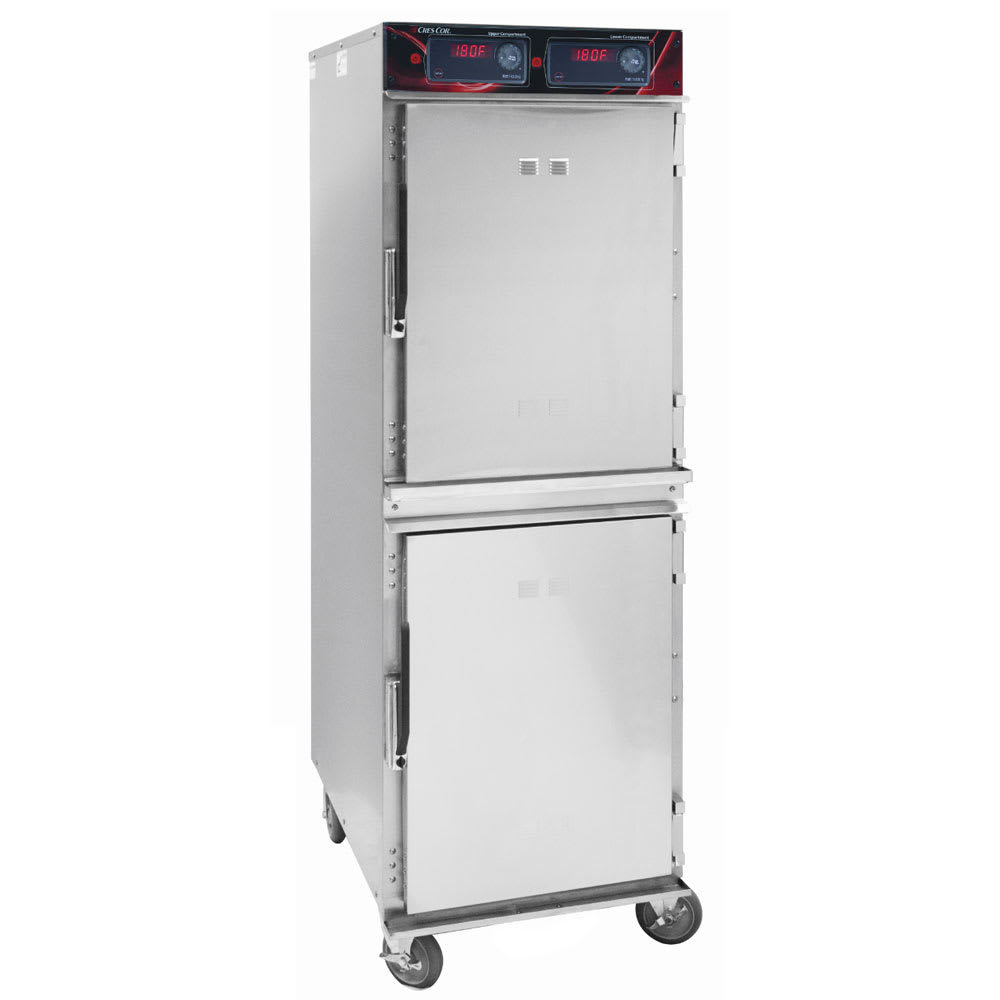 Cres Cor 1200-HH-SS-2DX Full Height Insulated Mobile Heated Cabinet w/ (16) Pan Capacity, 120v