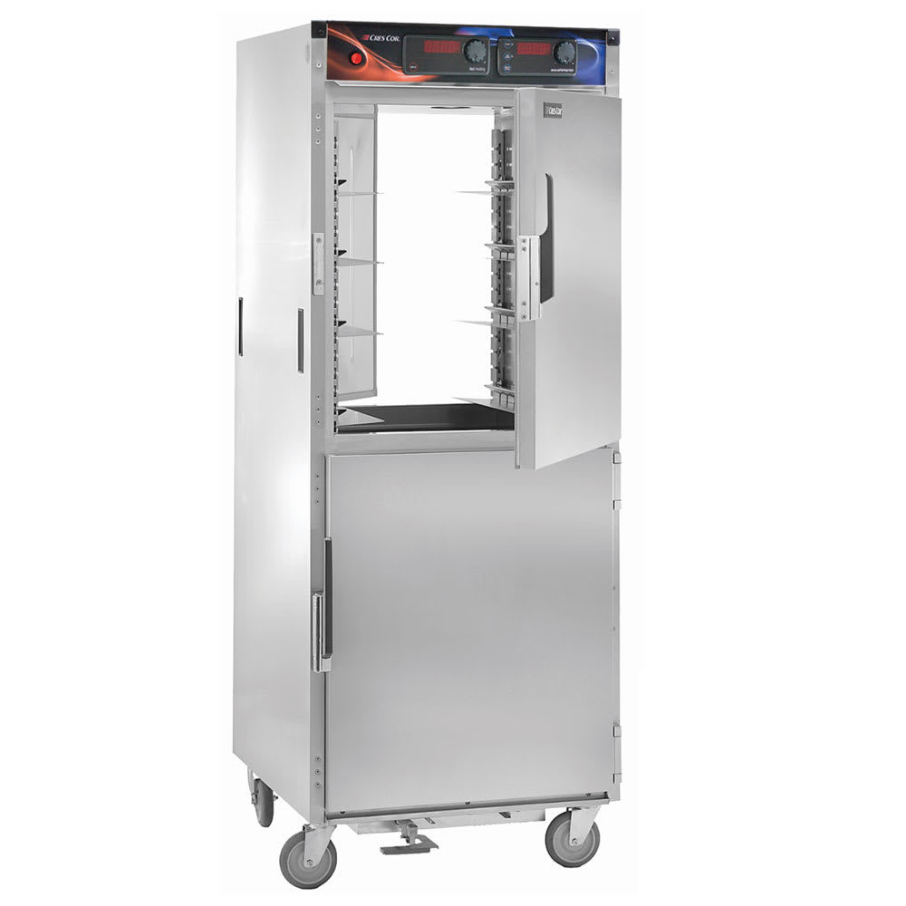 Cres Cor H-137-PWSUA-12D Full Height Mobile Heated Cabinet w/ (12) Pan Capacity, 120v