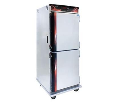 Cres Cor H-137-UA-12D 1201 Full Height Heated Cabinet, Insulated, w/ 12-Chrome Slides, LED, Aluminum, 120 V