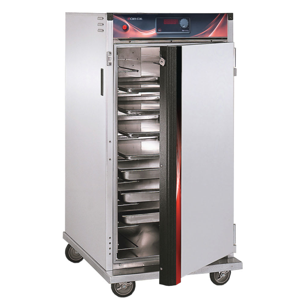 Cres Cor H-137-UA-9D 3/4 Height Insulated Mobile Heated Cabinet w/ (9) Pan Capacity, 120v