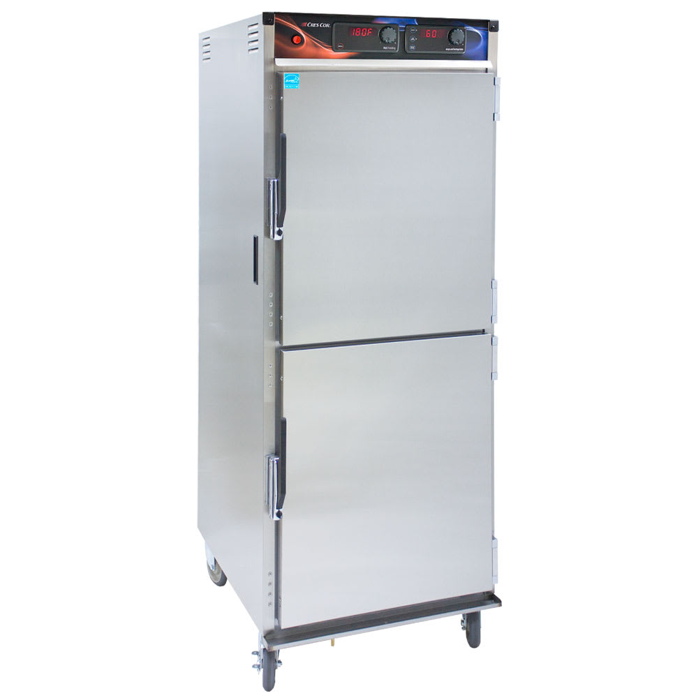 Cres Cor H-137-WSUA-12D Full Height Mobile Heated Cabinet w/ (12) Pan Capacity, 120v
