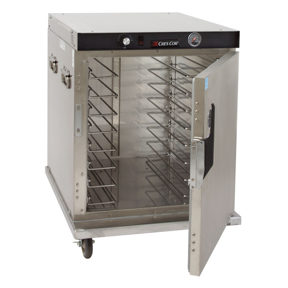 Cres Cor H-339-SS-UA-8C 1/2-Height Mobile Heated Cabinet w/ (8) Pan Capacity, 120v
