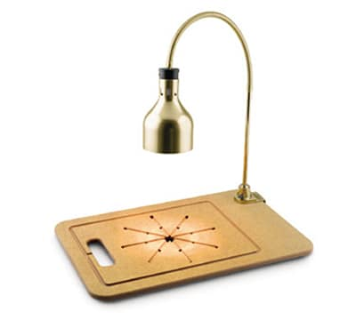 Cres Cor IFW-61-WF-PB Star Series Countertop Carving Station w/ 1-Lamp & Cutting Board, Brass Hood