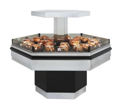 B.K.I. BHI-5 208 Self-Serve Hot Deli Island Display w/ 34 Chicken Capacity, 1 Shelf, 208/1 V