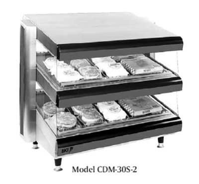 "B.K.I. CDM-36S-2 36"" Self-Service Countertop Heated Display Shelf - (2) Shelves, 120v"