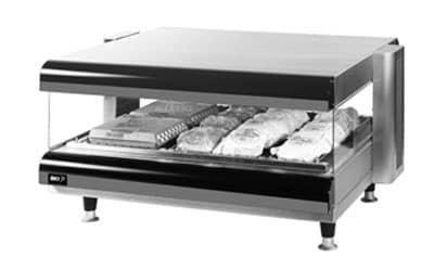 "B.K.I. CDM-48H-2 48"" Self-Service Countertop Heated Display Shelf - (2) Shelves, 120v"