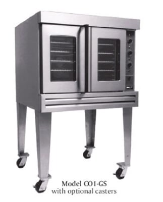 B.K.I. CO1-GS Full Size Gas Convection Oven - NG