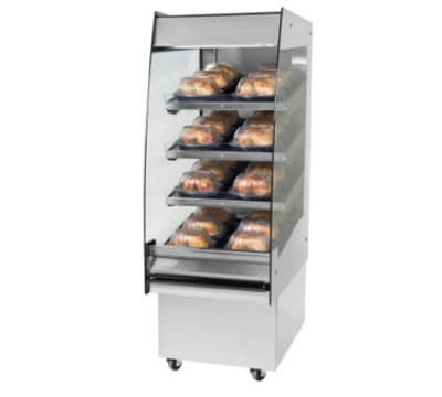 "B.K.I. HSS2-4S 208 24"" Hot Self Serve Merchandiser, Marine Edge, (4) Slanted Short Shelf, 208/1 V"