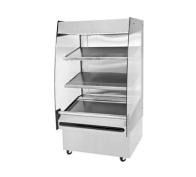 "B.K.I. HSS3-3 220 36"" Hot Self Serve Merchandiser w/ Marine Edge & (3) Slanted Shelves, 220/1 V"