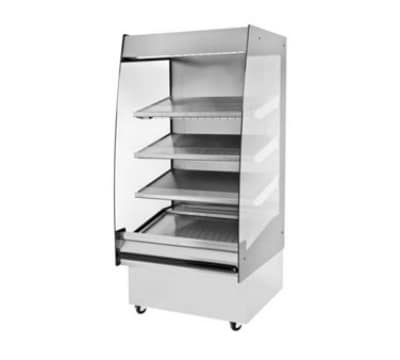 "B.K.I. HSS3-4T 240 36"" Hot Self Serve Merchandiser, Marine Edge, (4) Slanted Tall Shelf, 240/1 V"