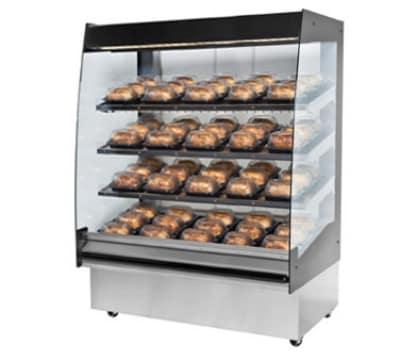 """B.K.I. HSS4-3 240 48"""" Hot Self Serve Merchandiser w/ Marine Edge & (3) Slanted Shelves, 240/1 V"""