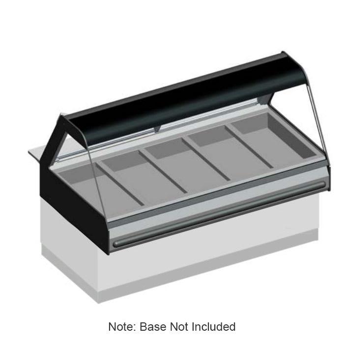 """B.K.I. WDCG-5 2403 Global Heated Display Merchandiser w/ 5-Wells & 69"""" Stock Case, 240/3 V"""