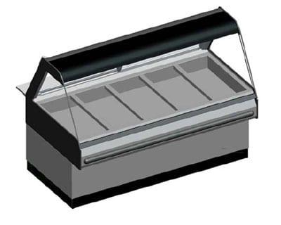 B.K.I. WDCG-5T 2083 Global Heated Display Merchandiser w/ 5-Wells & 69-in Custom Case, 208/3 V