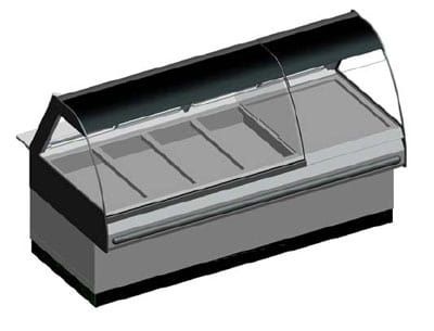 B.K.I. WDCG-6T 2403 Global Heated Display Merchandiser w/ 6-Wells & 82.5-in Custom Case, 240/3 V