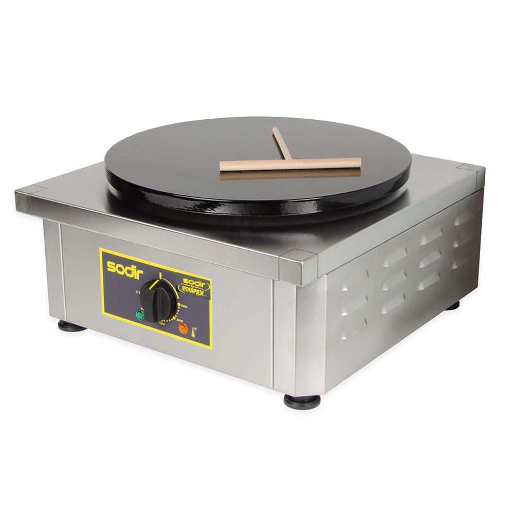 """Equipex 400E 15.75"""" Single Crepe Maker w/ Cast Iron Plate, 240v/1ph"""