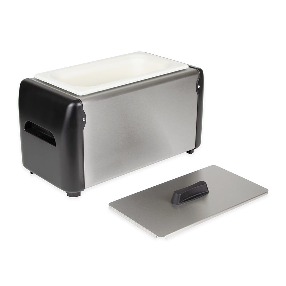Equipex CI-1 Cold-It Chilled Batter Holder w/ Removable Chill Plate Insert, Stainless/Plastic