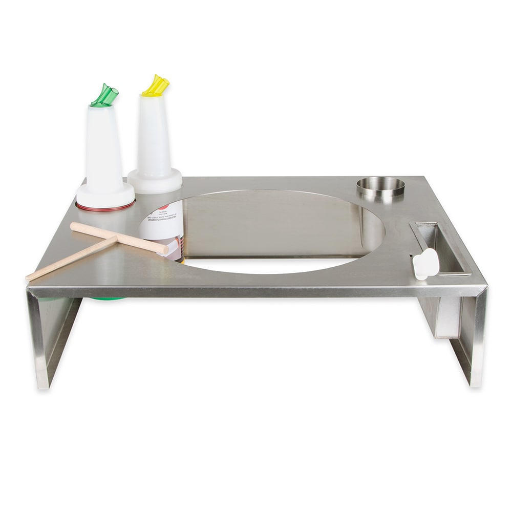 Equipex CK-1 Crepe Kit w/ Stainless Casing & Wood Spreader, Spatula For 350FE