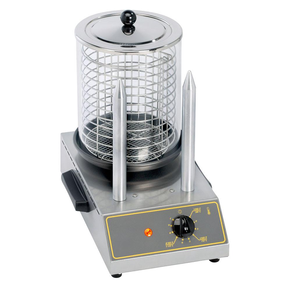 Equipex CS2E Hot Dog Steamer w/ 40 Hot Dog Capacity & 2 Toasting Spikes, 120v