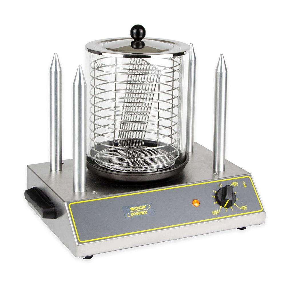 Equipex CS4E Hot Dog Steamer w/ 40 Hot Dog Capacity & 4 Toasting Spikes, 120v