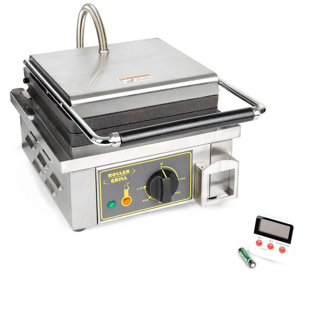 Equipex GES23/1 Single Waffle Maker w/ Cast Iron Plates, 120v
