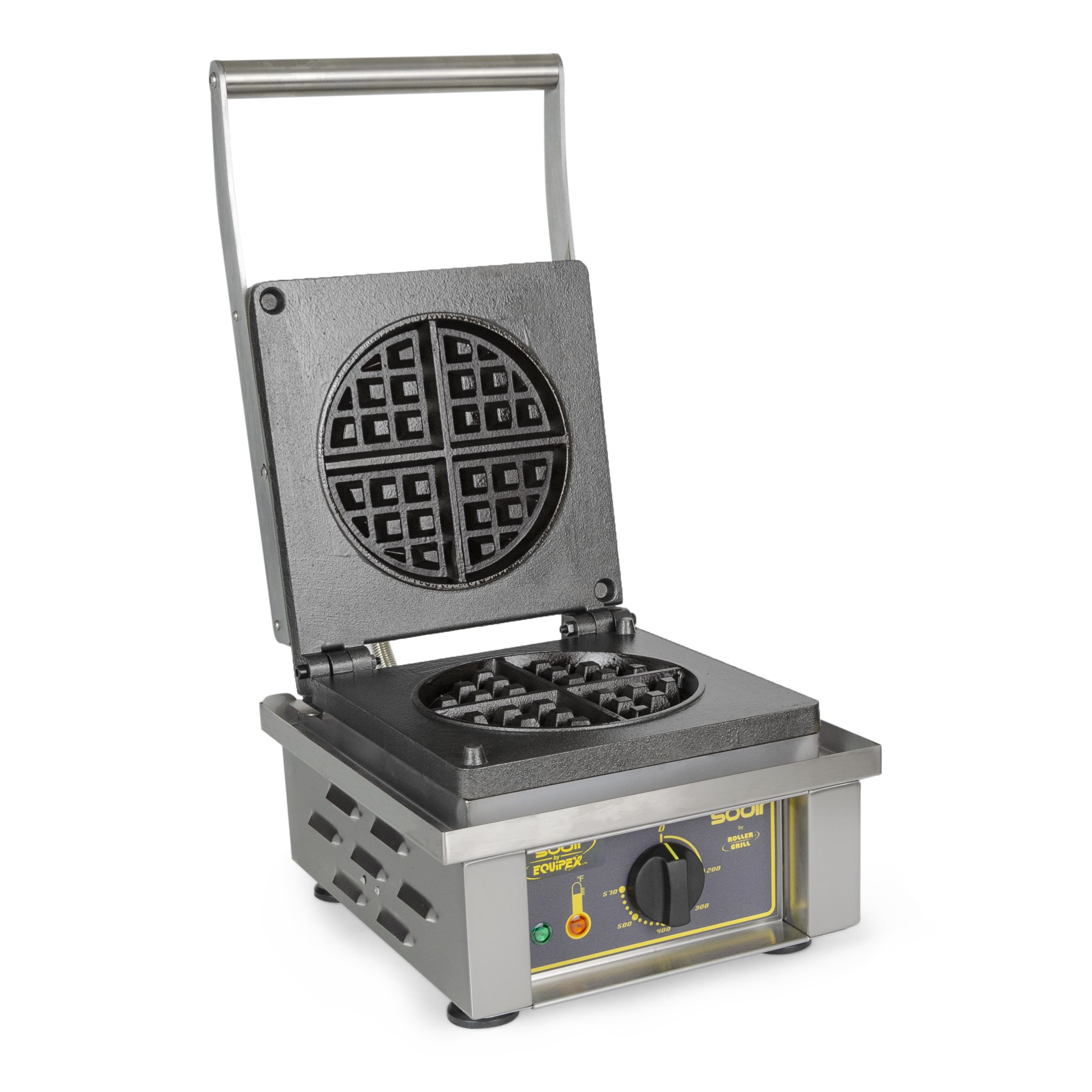 Equipex GES75/1 Single Classic Belgian Waffle Maker w/ Removable Cast Iron Grids, 1750W