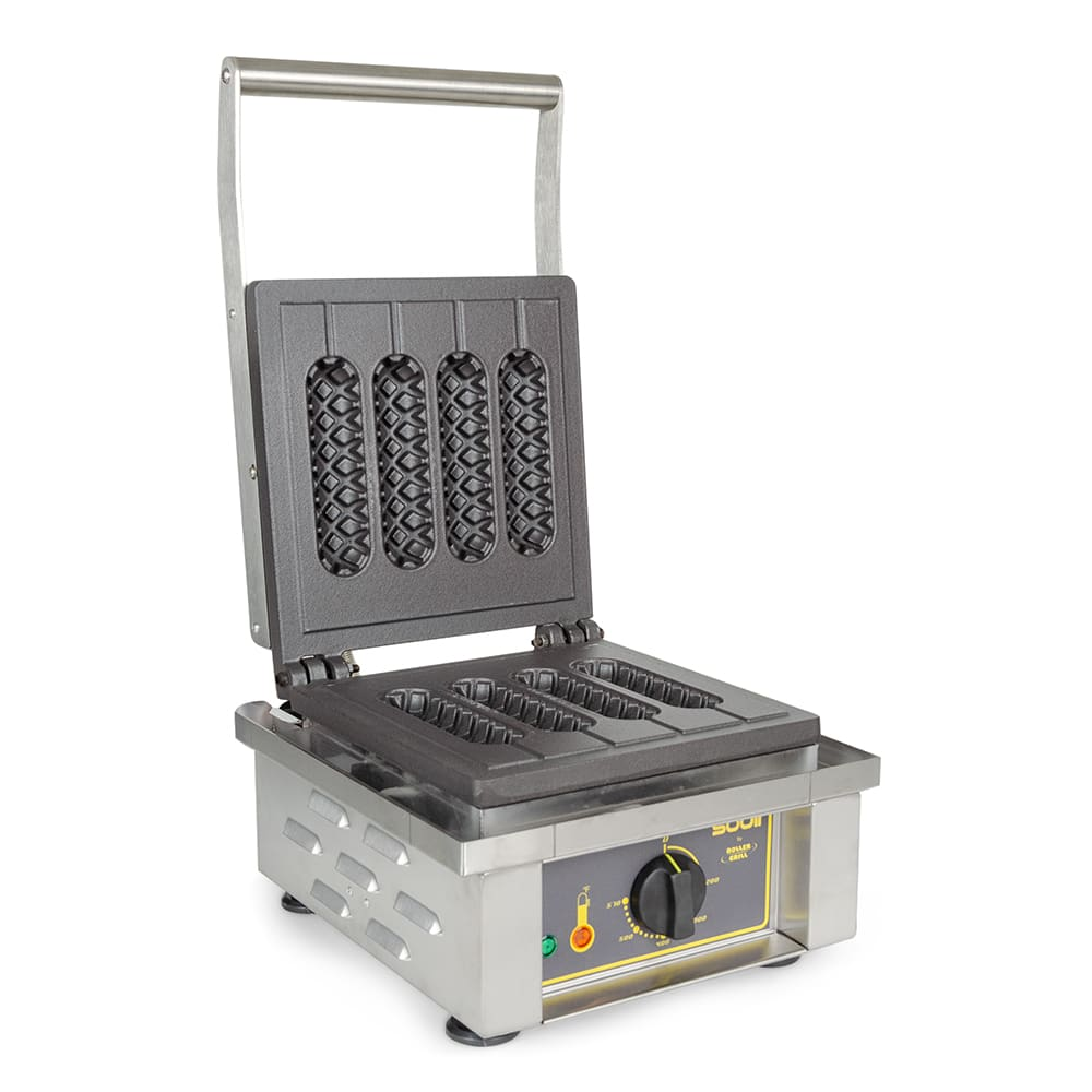 Equipex GES80 Single Silo Waffle Baker w/ Drip Tray - Stainless, 220v/1ph