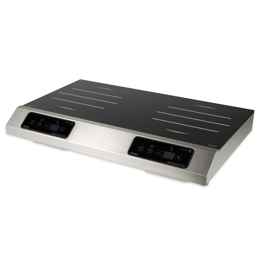 Equipex GL2-3500 Countertop Commercial Induction Cooktop w/ (2) Burners, 208-240v/1ph