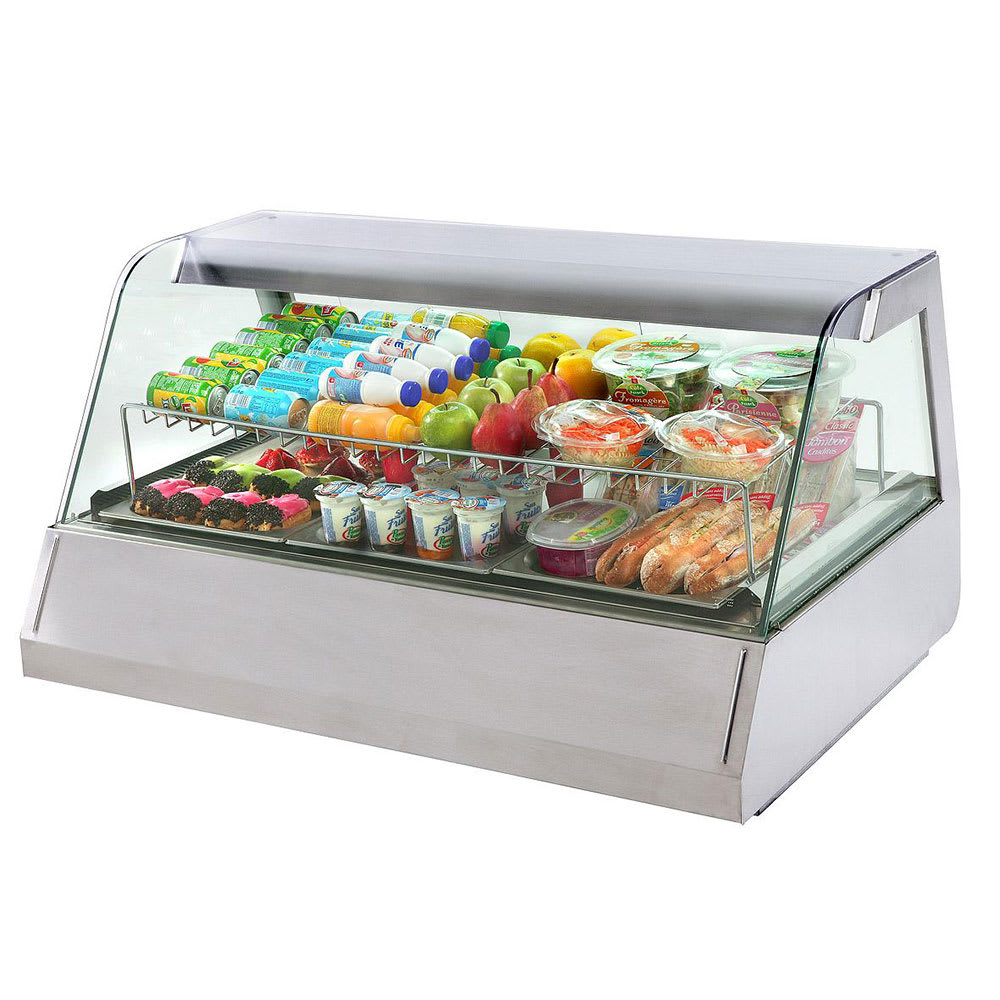 "Equipex HOT 300 45"" Full-Service Countertop Heated Display Case - (3) Pan Capacity, 208v/240v/1ph"
