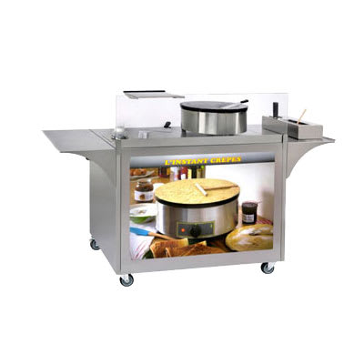 """Equipex MC-04 Mobile Crepe Cart - 32.5"""" x 39"""" x 24"""", Stainless"""