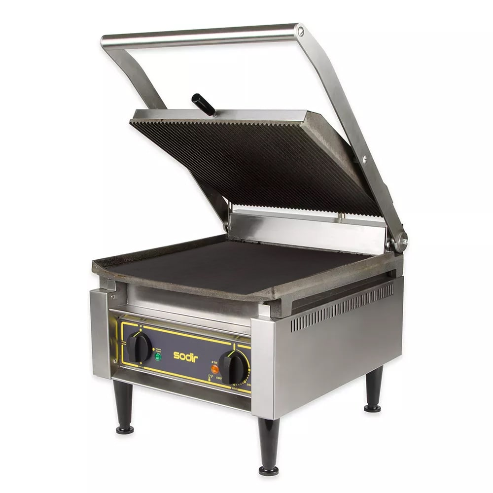 Equipex PANINI XL/1 G/S Commercial Panini Press w/ Cast Iron Grooved Top/Smooth Bottom Plates, 120v