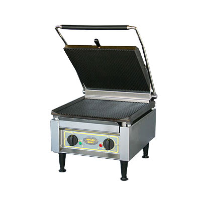 Equipex PANINI XL S/S Commercial Panini Press w/ Cast Iron Smooth Plates, 208 240v/1ph