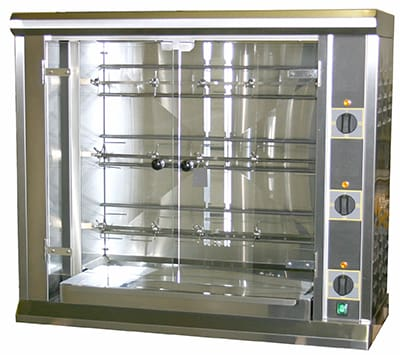 Equipex RBE-12 Electric 3-Spit Commercial Rotisserie, 208v/3ph