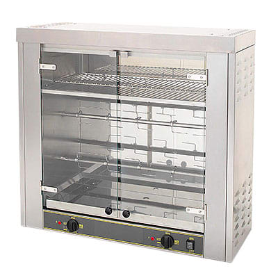 Equipex RBE-8 Electric 2 Spit Commercial Rotisserie, 208v/3ph