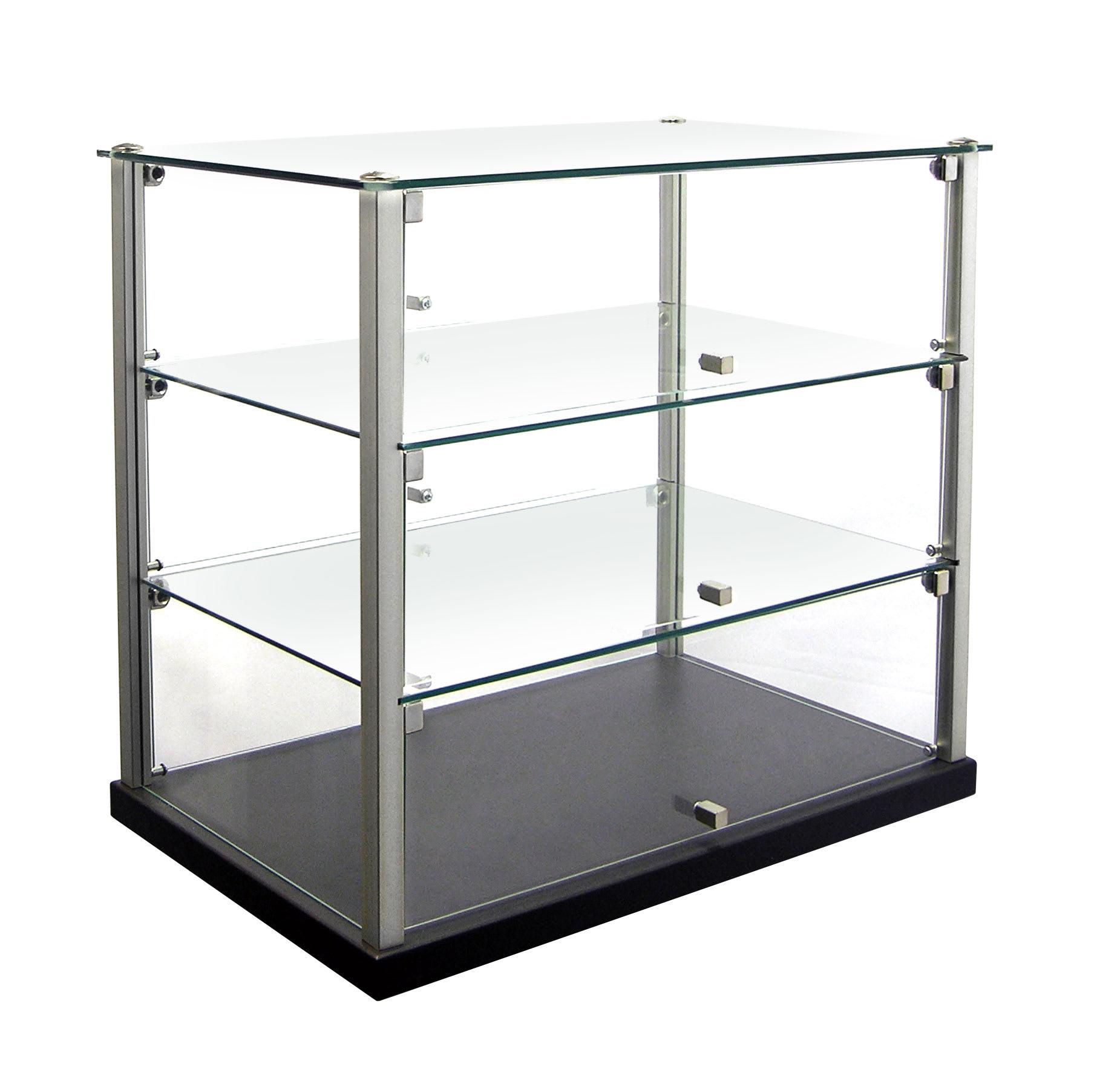 Equipex TN583 3-Tier Enclosed Dual Service Pass-Thru Display w/ (2) Glass Shelves
