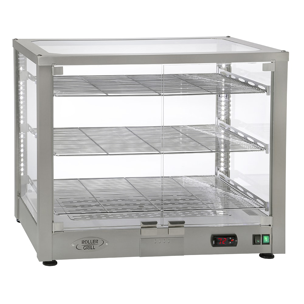 "Equipex WD780S-3/1 30.5"" Full-Service Countertop Heated Display Case w/ Straight Glass - (3) Shelves, 120v"