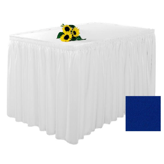 Snap Drape 1FSWYN63030 RBLU 6-ft Wyndham Fitted Table Cover Set w/ Shirred Skirt, Royal Blue