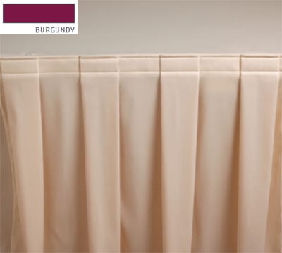 Snap Drape 3FSMAR83030 BUR 8-ft Marquis Fitted Table Cover Set w/ Boxed Pleat, Burgundy