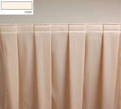 Snap Drape 3FSMEL63030 IVRY 6-ft Melrose Fitted Table Cover Set w/ Boxed Pleat, Ivory
