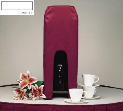 Snap Drape BDCWYN50 WHT 5-Gallon Beverage Dispenser Cover-Cambro & Carlisle, White