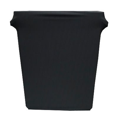 Snap Drape BSTCC16SJBLK 16 Gallon Stretch Cover for Rubbermaid Slim Jim Trash Cans - Polyester/Spandex, Black