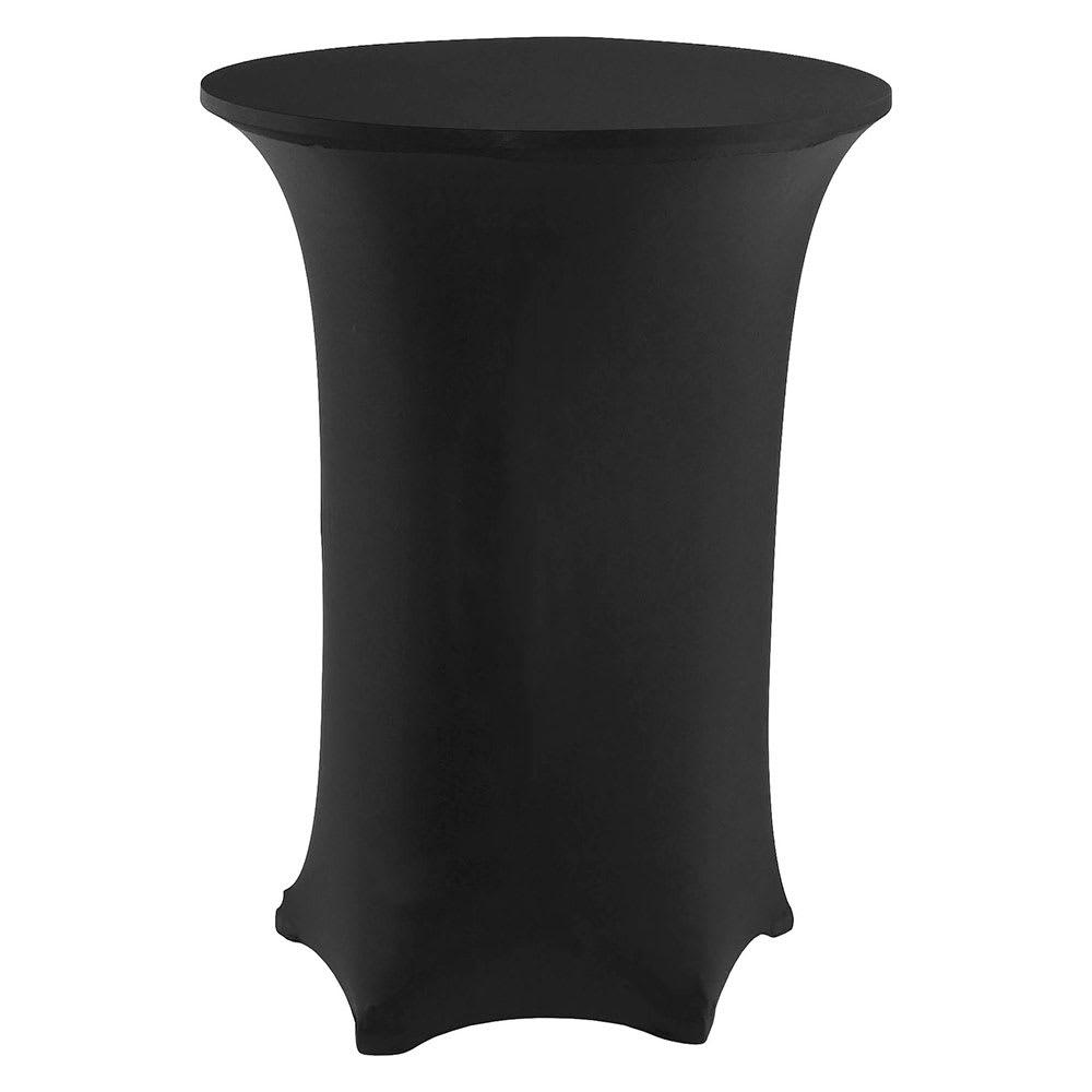 """Snap Drape CC30R42 BLK Contour Cocktail Table Cover Fits 30"""" Round Table, Black"""